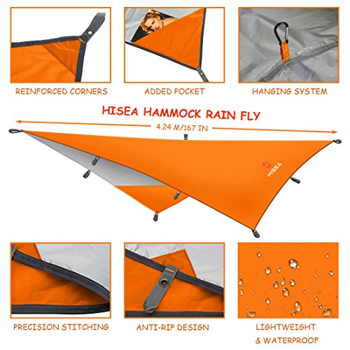 hisea h ngematte regen fliegen zelt tarp shelter 3m x 3m wasserdicht leichte rainfly sun. Black Bedroom Furniture Sets. Home Design Ideas