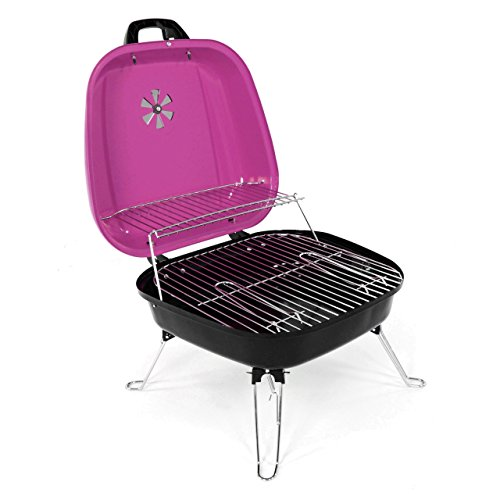 nexos mini koffer grill holzkohlegrill f r garten terrasse camping festival picknick party bbq. Black Bedroom Furniture Sets. Home Design Ideas
