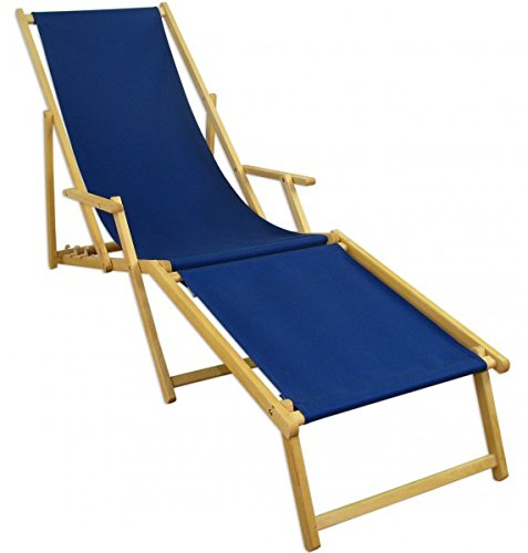 erst holz liegestuhl blau sonnenliege gartenliege fu teil deckchair strandstuhl buche klappbar. Black Bedroom Furniture Sets. Home Design Ideas