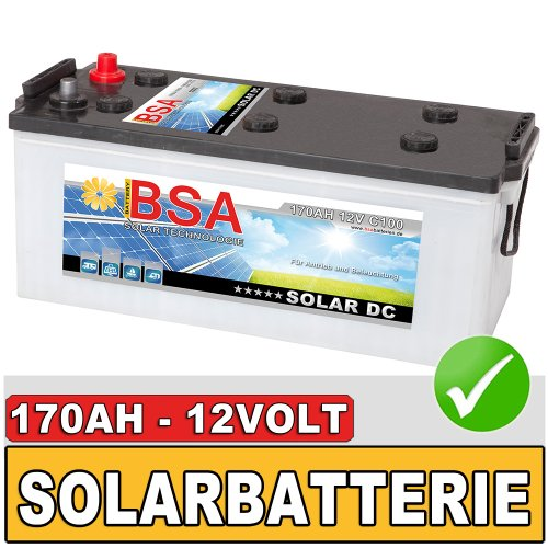 bsa 170ah 12v solarbatterie wohnmobil versorgungsbatterie. Black Bedroom Furniture Sets. Home Design Ideas