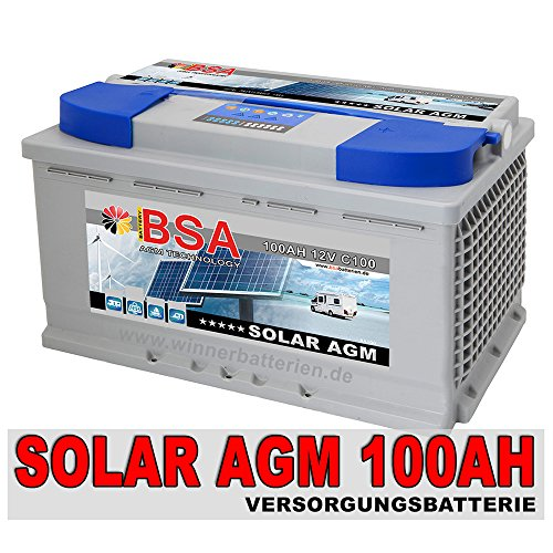 bsa solarbatterie 12v 100ah solar akku wohnmobil boot. Black Bedroom Furniture Sets. Home Design Ideas